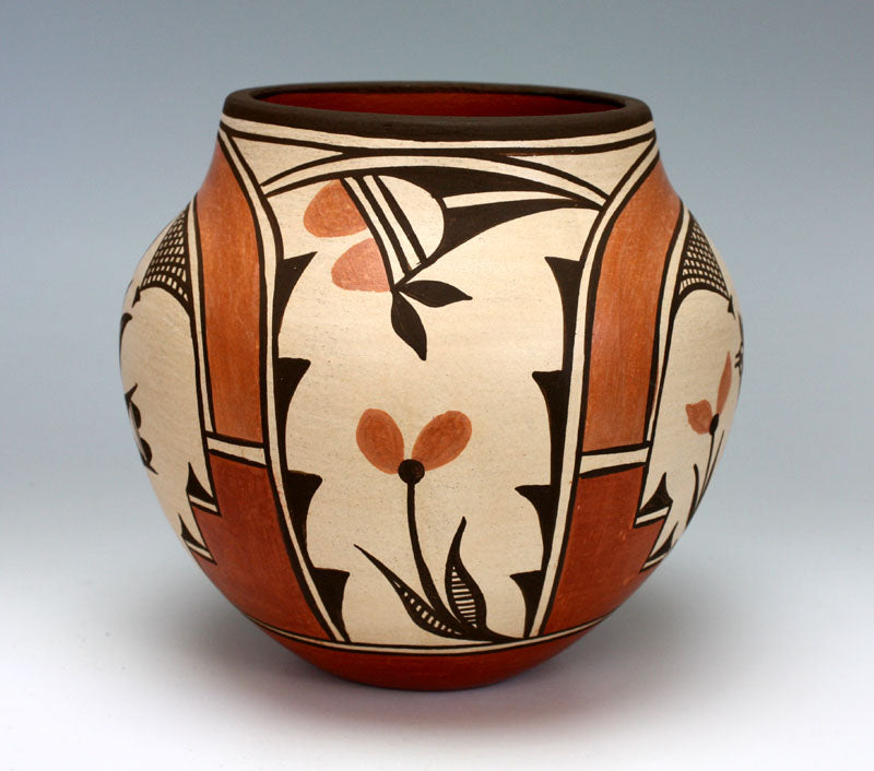 Zia Pueblo Native American Indian Pottery Bird Olla #2 - Kimberly Medina