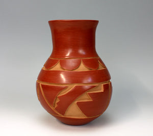 Santa Clara Pueblo Indian Pottery Carved Jar - Kimberly Garcia