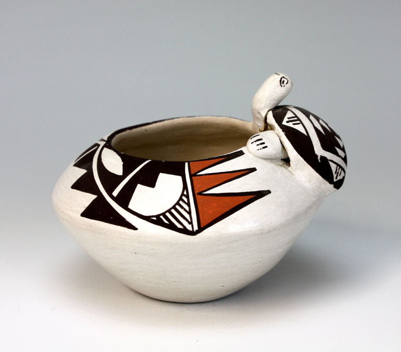 Isleta Pueblo American Indian Pottery Turtle Bowl - Stella Teller (Various)