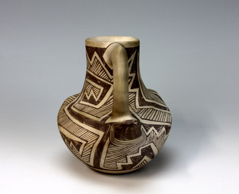 Laguna Pueblo Native American Indian Pottery Parrot Cup - Michael Kanteena