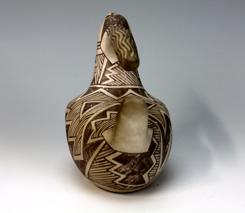 Laguna Pueblo Native American Indian Pottery Bird Pitcher - Michael Kanteena
