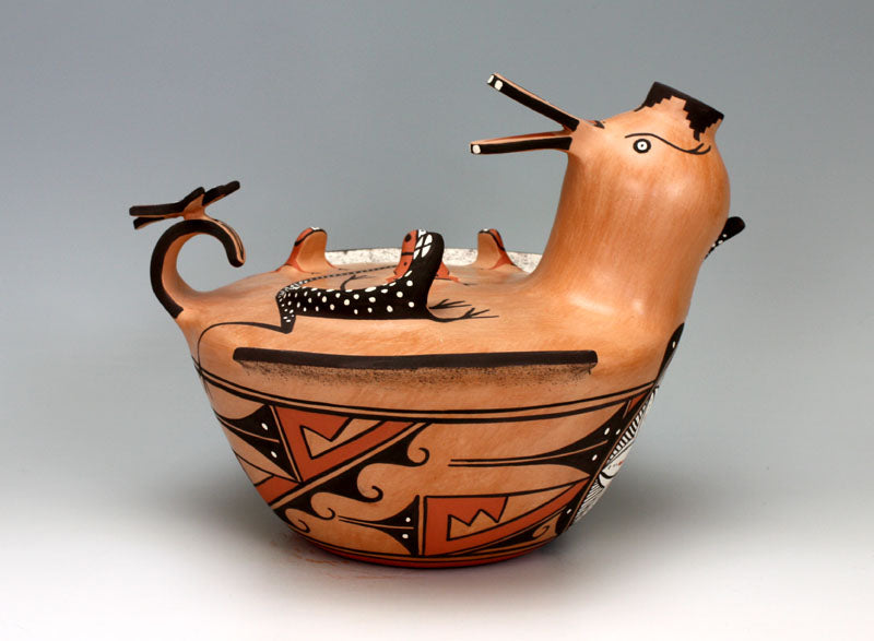 Zuni Pueblo Native American Indian Pottery Large Duck Jar - Agnes Peynetsa