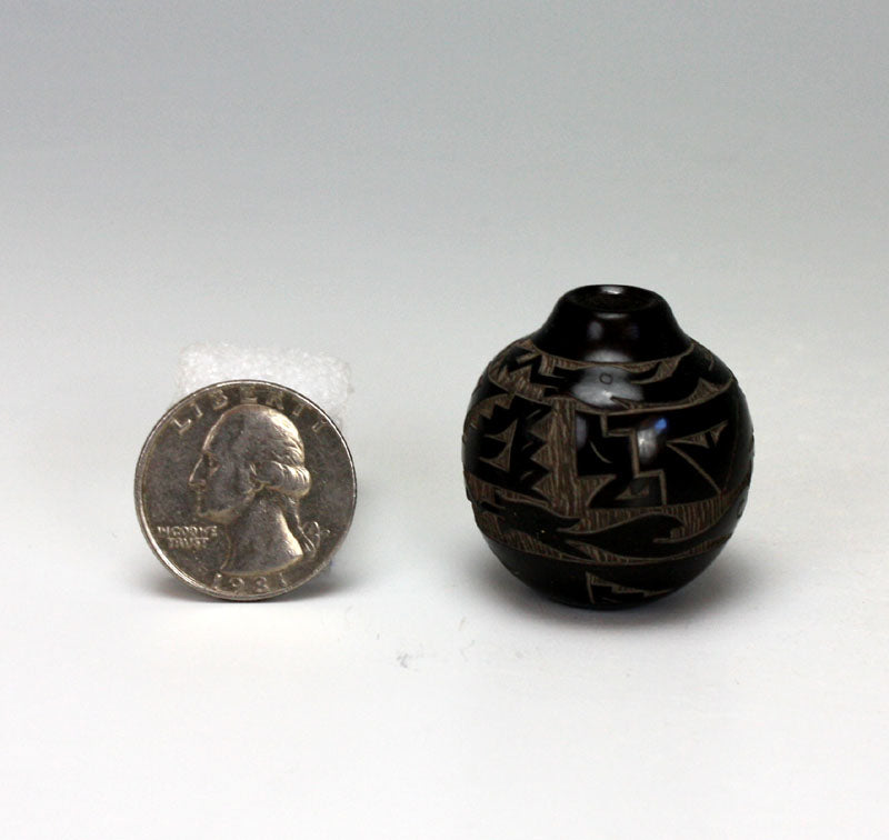 Santa Clara Pueblo Indian Pottery Miniature Seed Jar - Monica Naranjo