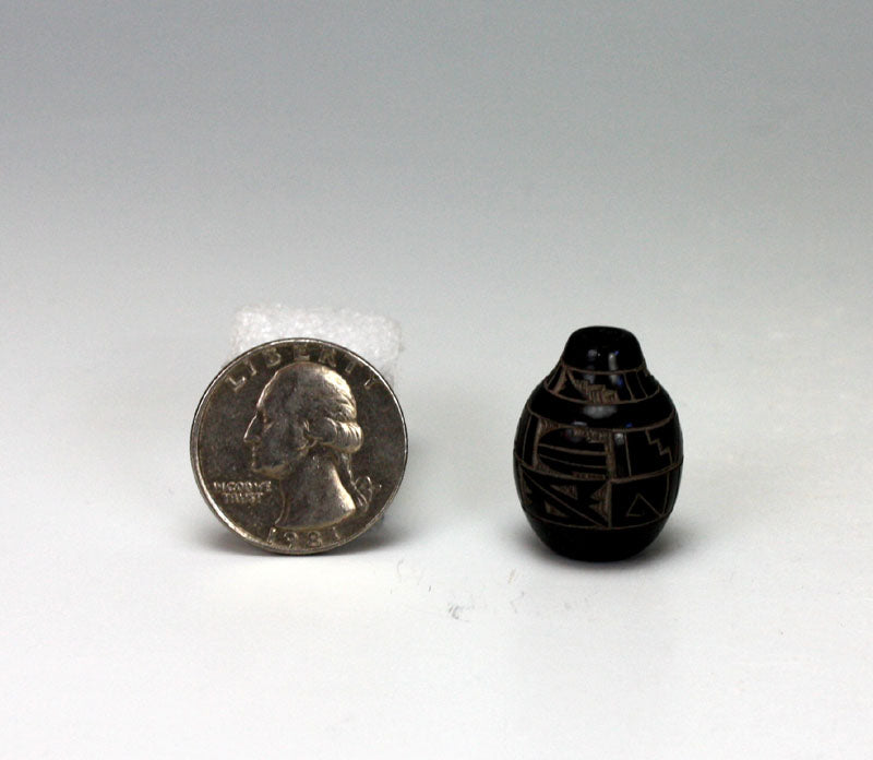 Santa Clara Pueblo Indian Pottery Miniature Seed Jar #3 - Monica Naranjo
