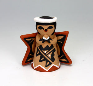 Jemez Pueblo American Indian Pottery Angel Ornament #6 - Vernida Toya