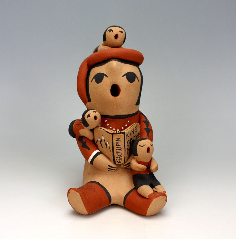Jemez Pueblo American Indian Pottery Male Storyteller - Mary Ellen Toya