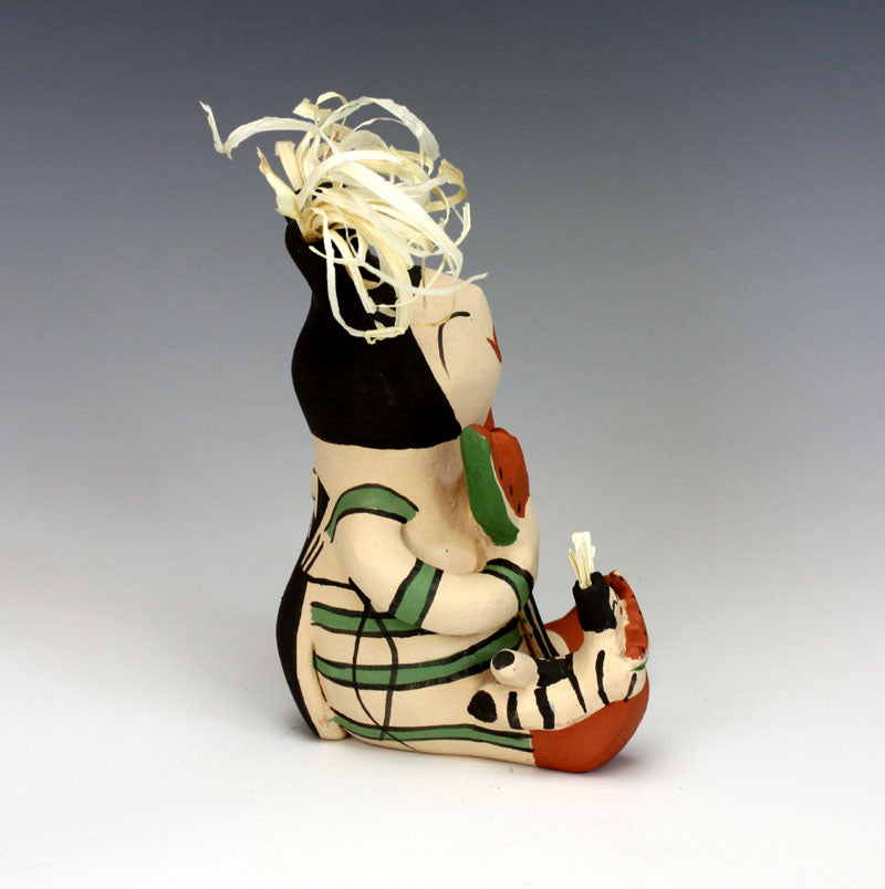 Jemez Pueblo Native American Indian Pottery Koshare #3 Storyteller - Lupe Lucero