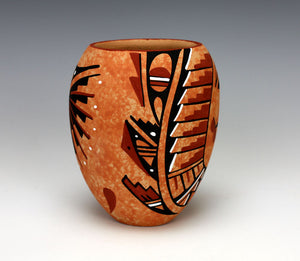 Jemez Pueblo American Indian Pottery Marbled Jar - Marie Chinana