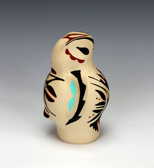Jemez Pueblo American Indian Pottery Owl #2 - Marie Chinana