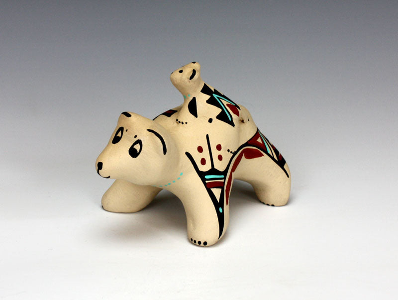 Jemez Pueblo American Indian Pottery Bear Storyteller - Marie Chinana