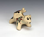 Jemez Pueblo American Indian Pottery Bear Storyteller #2 - Marie Chinana