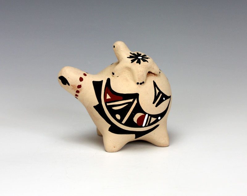 Jemez Pueblo American Indian Pottery Turtle Storyteller - Marie Chinana