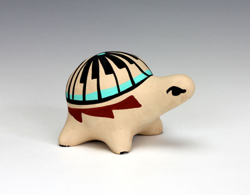 Jemez Pueblo American Indian Pottery Turtle - Marie Chinana