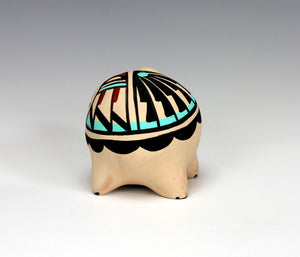 Jemez Pueblo American Indian Pottery Turtle #4 - Marie Chinana