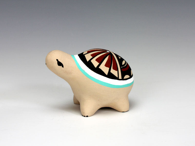 Jemez Pueblo American Indian Pottery Turtle #5 - Marie Chinana