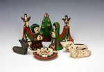 Jemez Pueblo American Indian Pottery Nativity Set - Leatrice Loretto