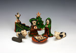 Jemez Pueblo American Indian Pottery Nativity Set #1 - Leatrice Loretto