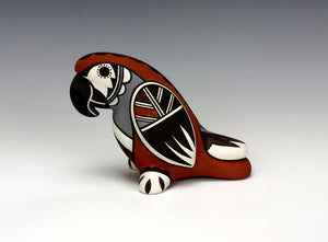 Jemez Pueblo Native American Indian Pottery Parrot - Darrick Tsosie