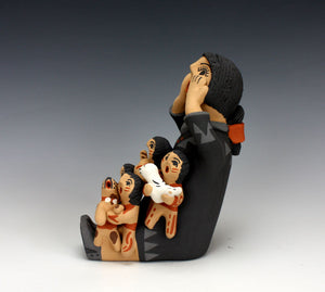 Jemez Pueblo American Indian Pottery Female Storyteller #1 - Bonnie Fragua