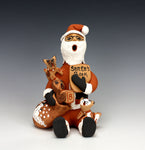 Jemez Pueblo American Indian Pottery Santa Storyteller - Bonnie Fragua