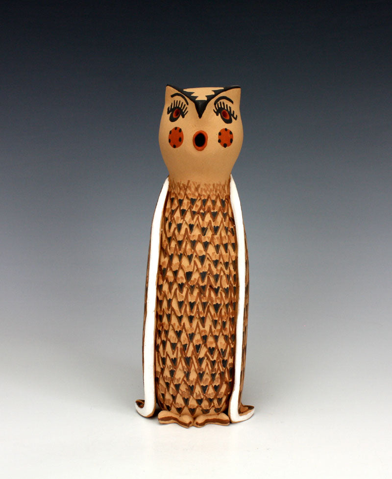 Jemez Pueblo American Indian Pottery Owl - Bonnie Fragua