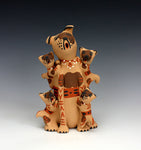 Jemez Pueblo American Indian Pottery Dog Storyteller - Bonnie Fragua