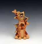 Jemez Pueblo American Indian Pottery Dog Storyteller #1 - Bonnie Fragua