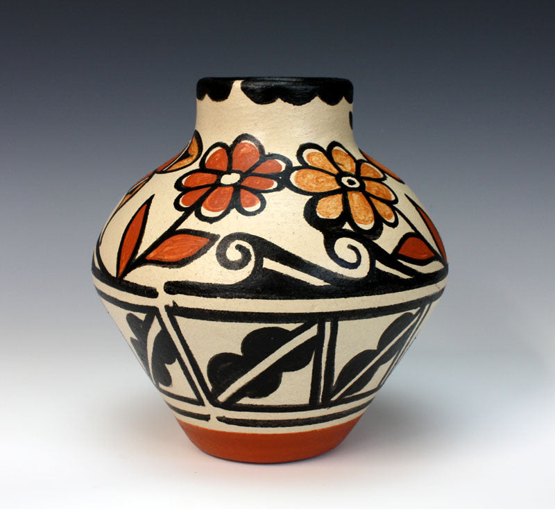 Kewa - Santo Domingo Pueblo Indian Pottery Butterfly Jar - Rose Pacheco