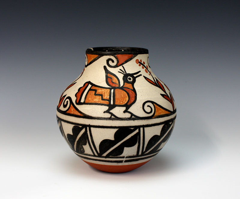 Kewa - Santo Domingo Pueblo Indian Pottery Bird Jar - Rose Pacheco