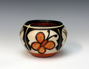 Kewa Pueblo Indian Pottery Butterfly Bowl - Rose Pacheco