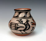 Kewa - Santo Domingo Pueblo American Indian Pottery Bird Jar - Robert Tenorio