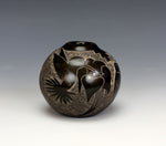 Santa Clara Pueblo Indian Pottery Hummingbird Seed Pot - Judy Tafoya