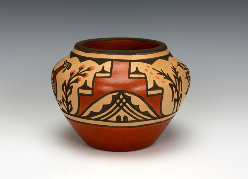 Zia Pueblo Native American Indian Pottery Bird Jar - Ruby Panana