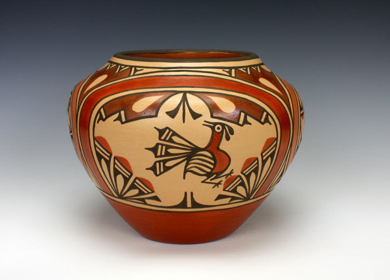 Zia Pueblo Native American Indian Pottery Large Jar - Ruby Panana