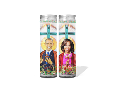 Barack and Michelle Obama Celebrity Prayer Candle Set