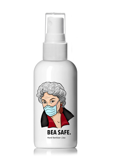 Bea Safe - Bea Arthur Hand Sanitizer - 4oz  Plastic Spray Bottle
