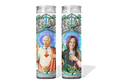 Joe Biden and Kamala Harris Celebrity Prayer Candle Set - Biden/Harris 2020!