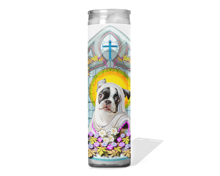 Boston Terrier Prayer Candle