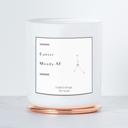 Cancer Moody AF - Luxe Scented Soy Horoscope Candle - Black Raspberry Vanilla