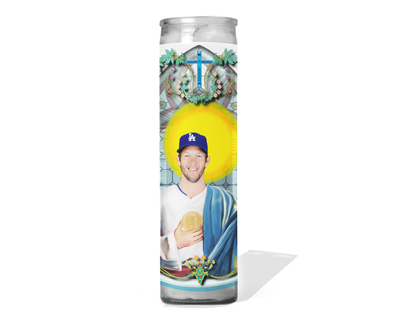 Clayton Kershaw Celebrity Prayer Candle