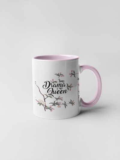 Drama Queen Mug - Floral Delicate and Fancy