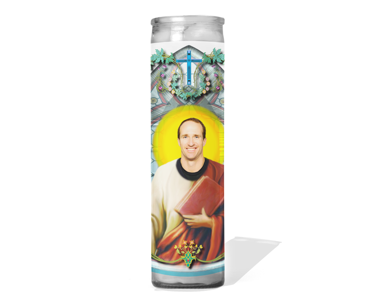 Drew Brees Celebrity Prayer Candle - New Orleans Saints