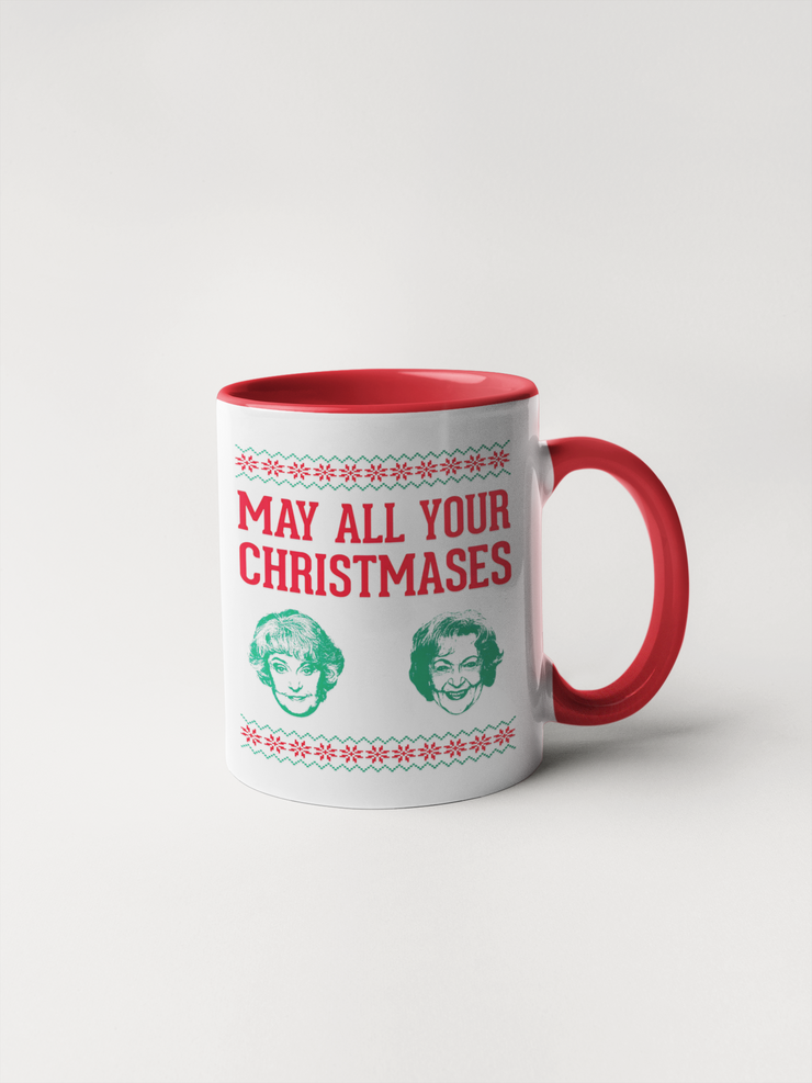 May All Your Christmases Bea White - Golden Girls Christmas Mug