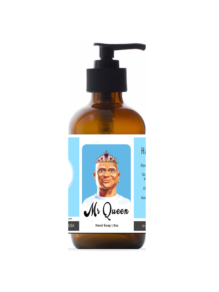 Mr. Queen - Liquid Hand Soap 8oz Glass Bottle
