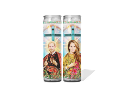 Prince Harry and Meghan Markle Celebrity Prayer Candle Set