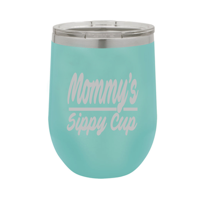 Mommy's Sippy Cup - Polar Camel Wine Tumbler with Lid