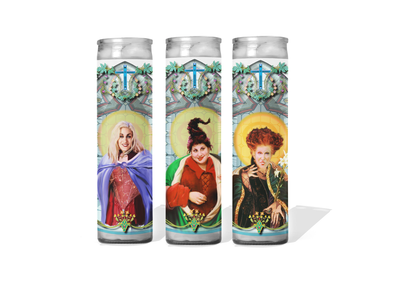 Hocus Pocus - Sanderson Sisters Celebrity Prayer Candle Set of 3
