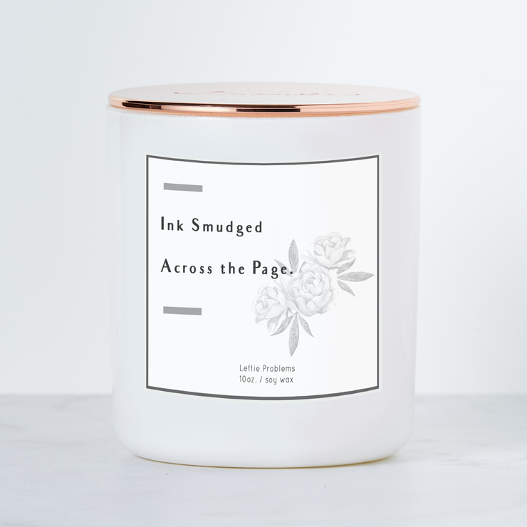 Leftie Problems - Luxe Scented Soy Candle for the Left Handed - Grapefruit & Mint