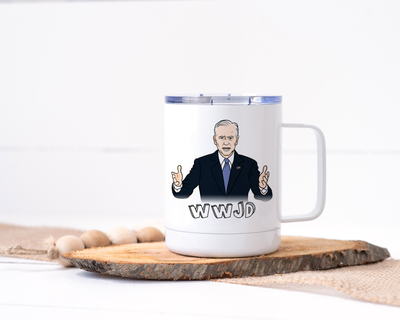 WWJD - What Would Joe Do? Joe Biden Stainless Steel Travel Mug