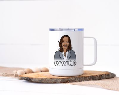 WWKD - What Would Kamala Do? Kamala Harris Stainless Steel Travel Mug